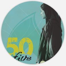 50 in 5 Postcard Design